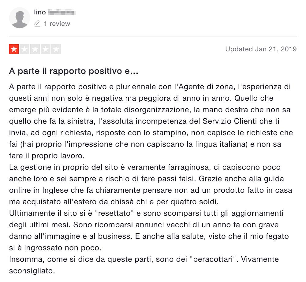 recensione negativa italiaonline 2